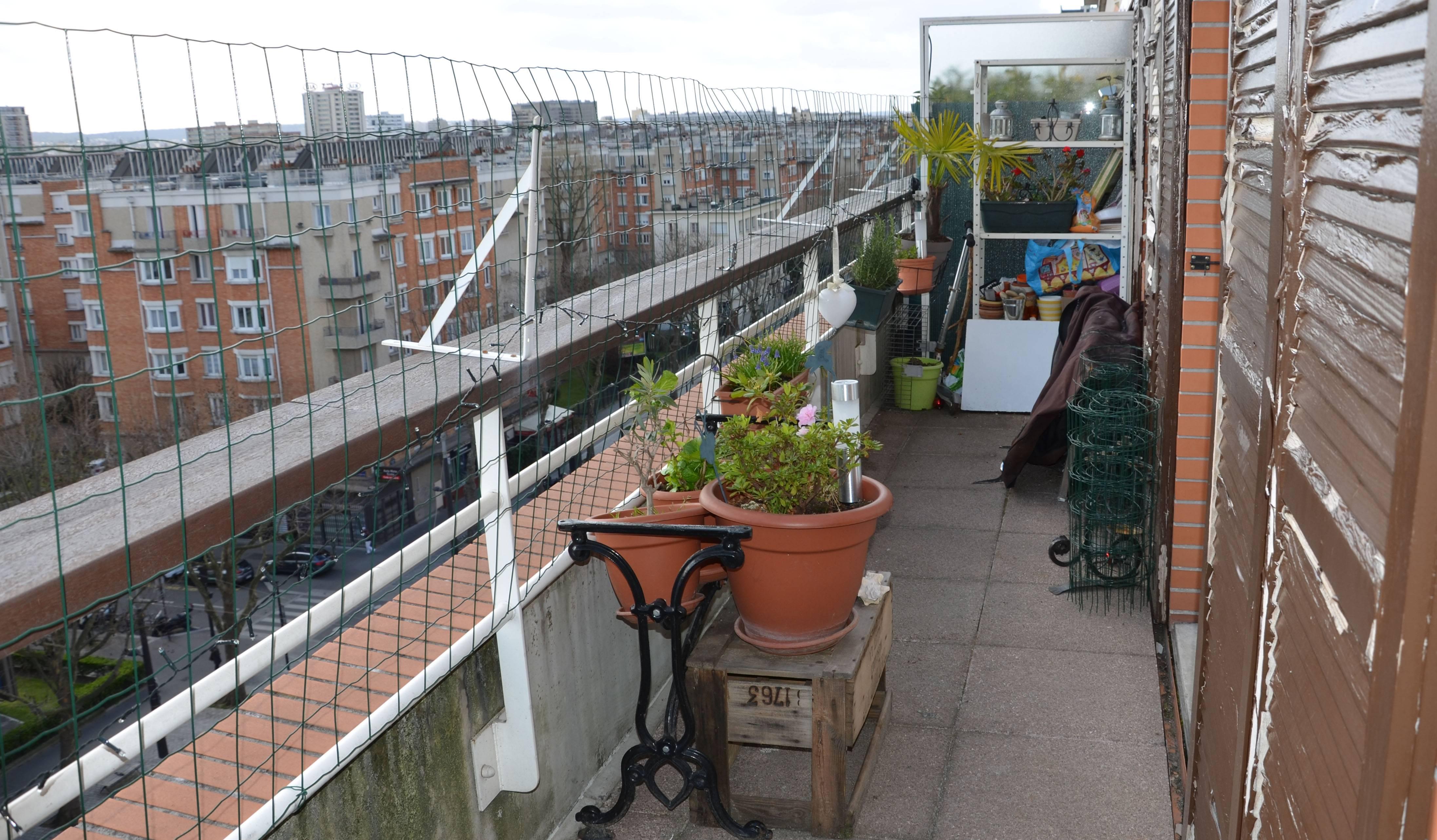 Le balcon avant transformation.