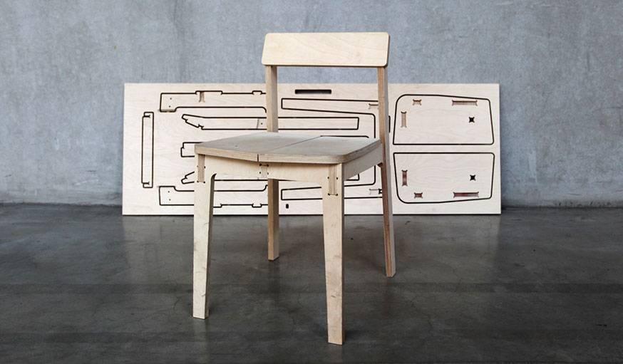 Une chaise que l'on pourra fabriquer avec la Maker Box.