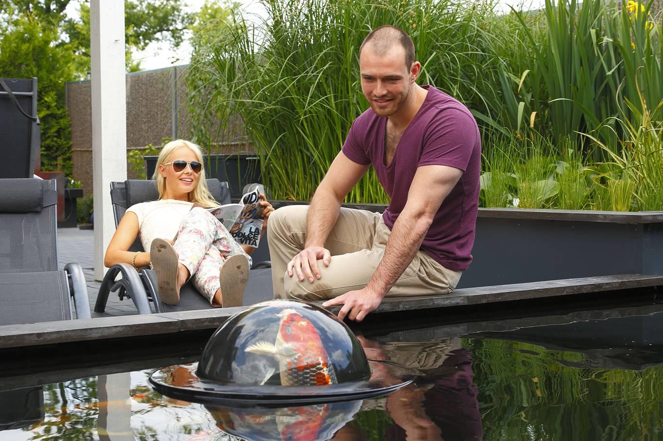 Fabriquer Une Tour A Poisson dôme flottant pour bassin à poissons et aquarium insolite