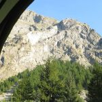 Près de Courmayeur (Haute-Savoie), le 15 juillet. Vue sur le glacier de la Brenva, dans les Alpes.