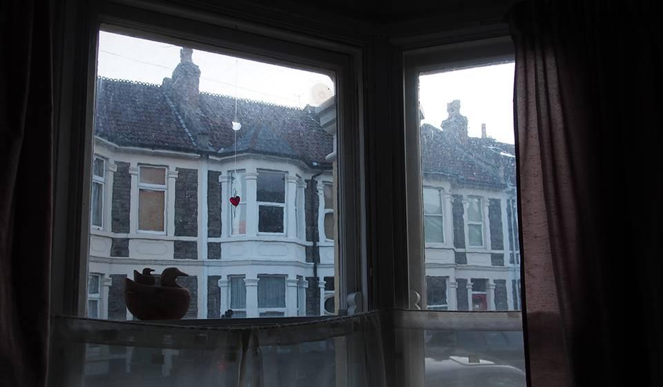 Bristol (Angleterre), le 29 juillet. Vue sur un quartier ouvrier de l'époque victorienne.