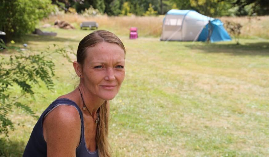 Laure Michel met son jardin à disposition des gampeurs.