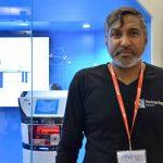 Ramesh Caussy, créateur de DIYA, lors du salon Innorobo en juillet 2015.