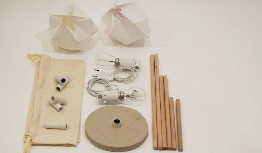 La lampe A2 se présente sous forme d'un kit à monter soi-même.