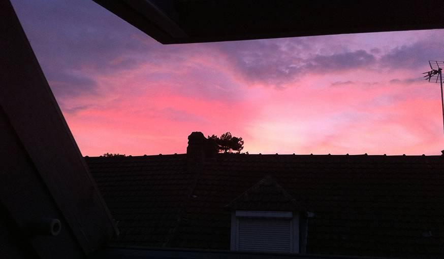 Coucher de soleil à Compiègne (Oise). Le 9 août.