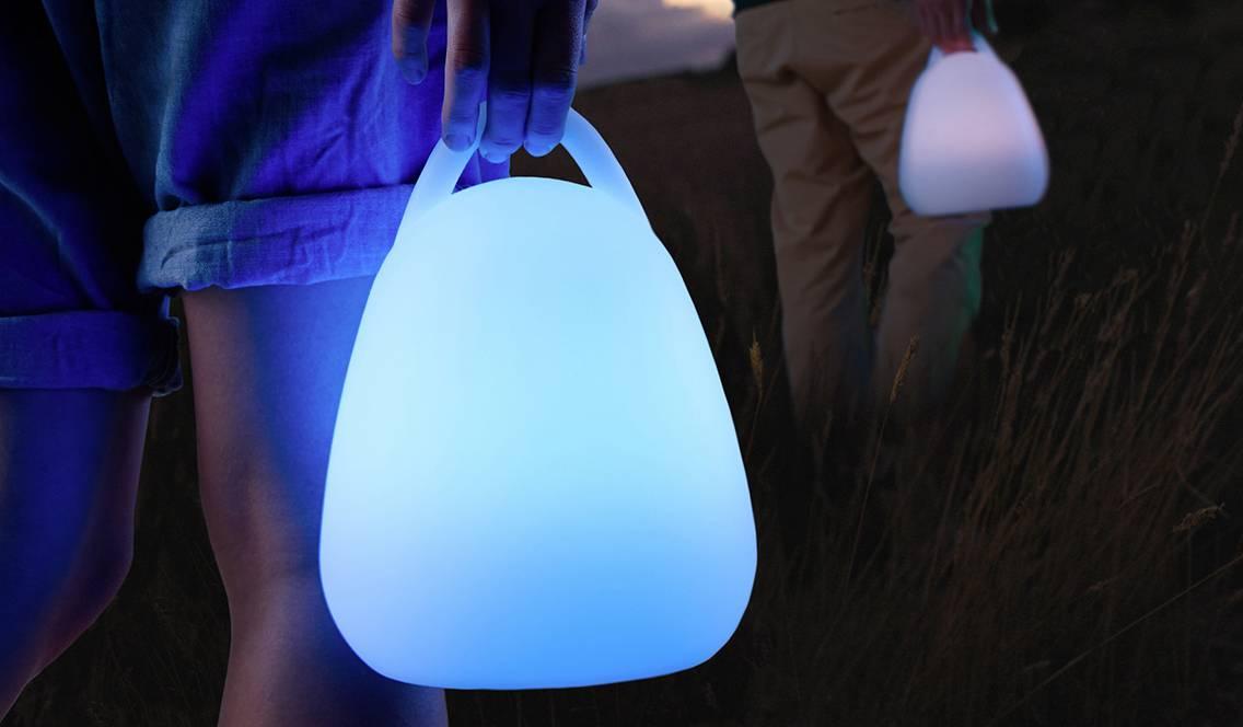 Baladeuse lumineuse autonome multicolore