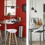Deux vues de petites cuisines fonctionnelles et design chez Castorama
