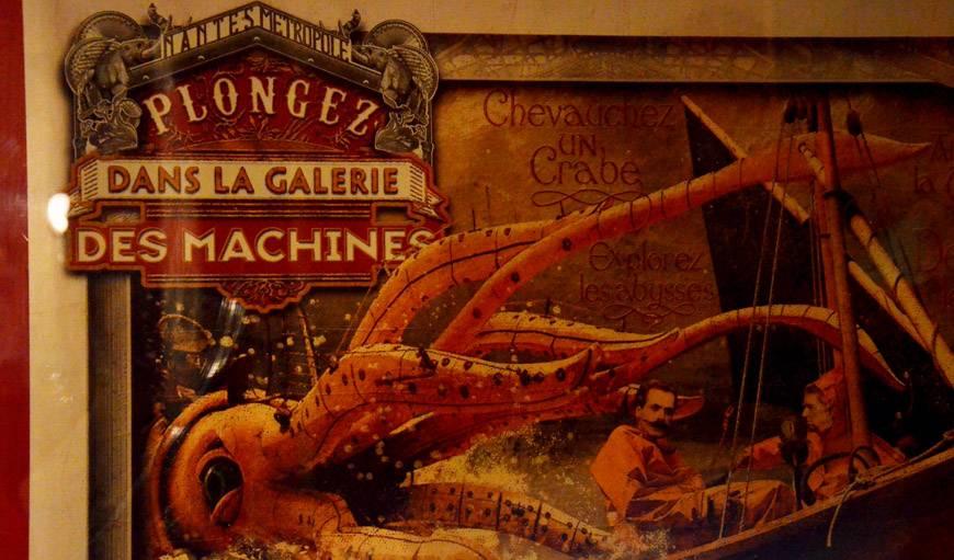 Affiche inspirée de Jules Verne.