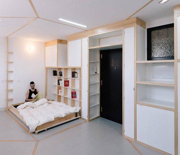 Un étonnant appartement modulable et minimaliste