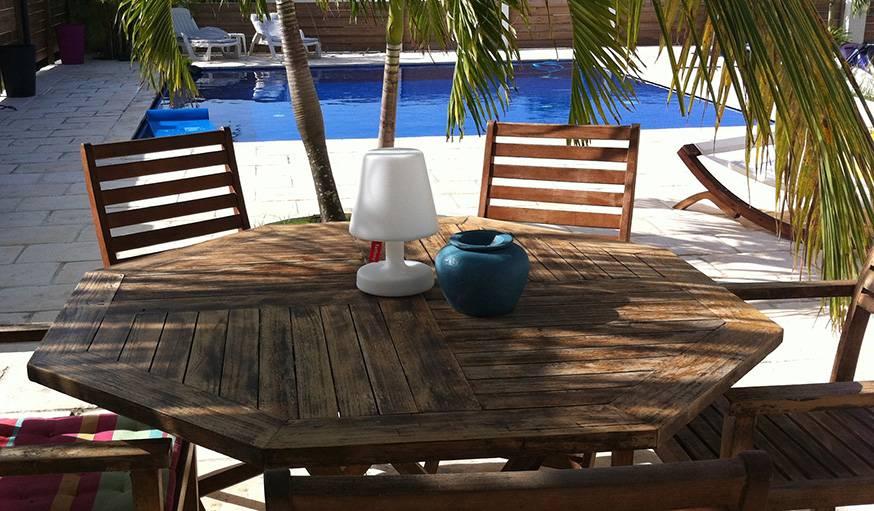 C'était la fin de l'été à St-François en Guadeloupe.
