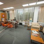 Reproduction du bureau de Don Draper pour une exposition à New York.