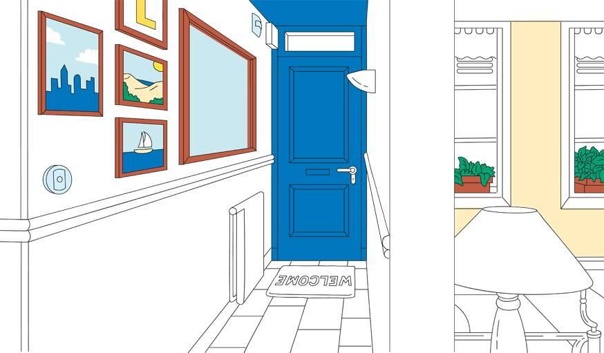 Un miroir, quelques cadres et des couleurs douces, votre couloir est métamorphosé.