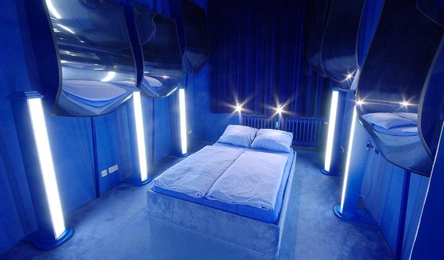 Blue room de l'hôtel Island City Lodge, à Berlin.