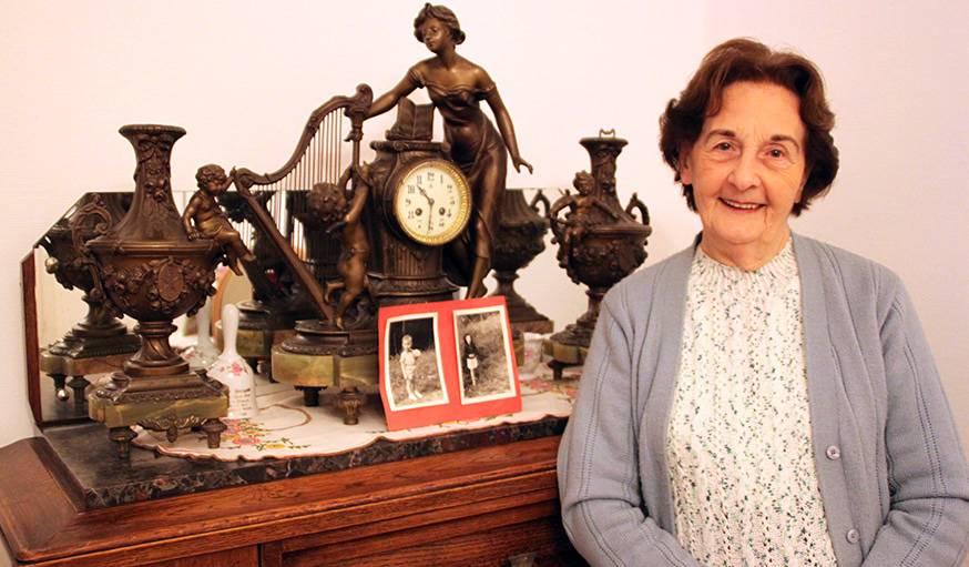 Simone Dorge habite le Familistère depuis 1952.