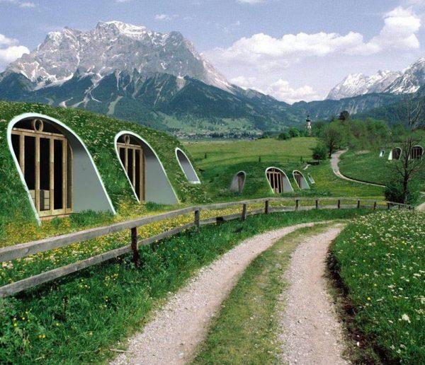 Des maisons de hobbits en kit
