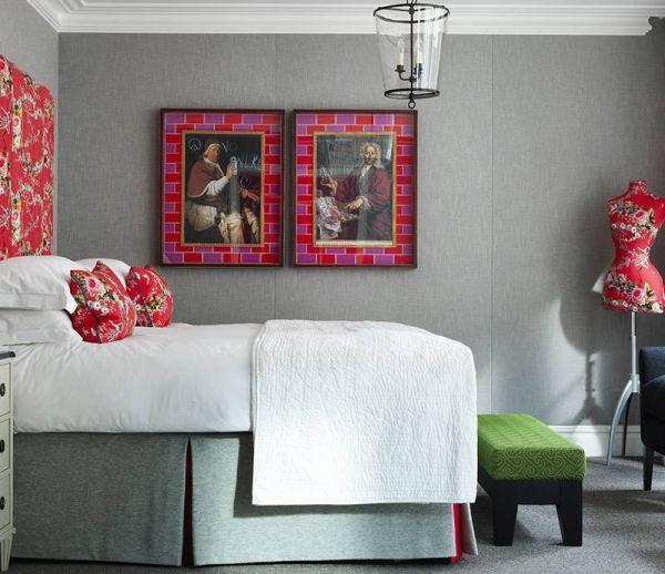 Inspiration déco : En mode gris chic et motifs floraux