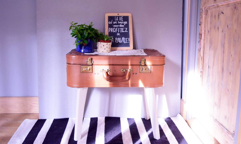 Tuto : Transformez une valise en table vintage