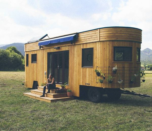 Une tiny house écolo pour voyager durable tout autour du monde