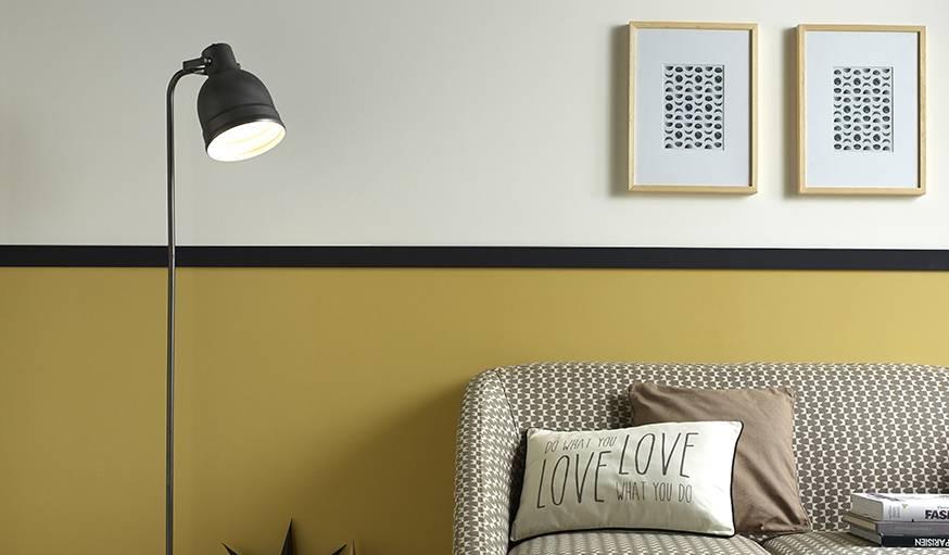 Habillez vos murs de plusieurs teintes pour créer une transition harmonieuse vers le sol.