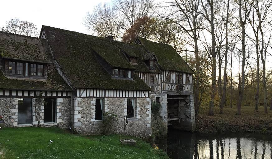 Vue depuis le Moulin d'Andé dans l'Eure, où François Truffaut a tourné Jules et Jim ! Le 8 novembre.