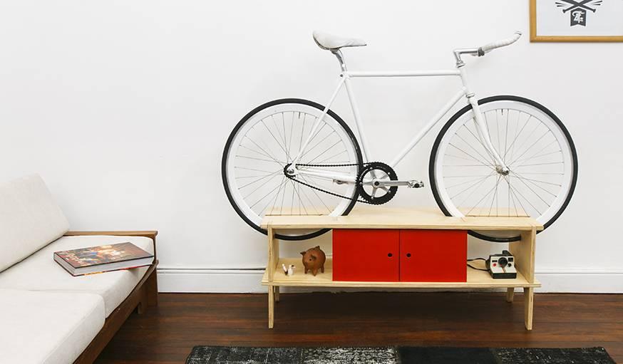 Le vélo devient un élément de décoration à part entière.