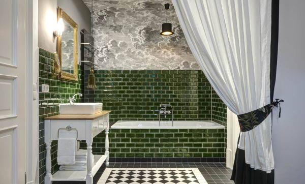 Inspiration : une salle de bains en mode rétro branché