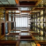 Le centre d'innovation Anacleto Angelini de l'Université catholique du Chili, à Santiago du Chili. Réalisé par Alejandro Aravena et achevé en 2014.