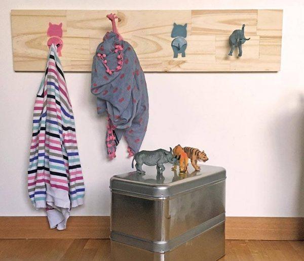 Portemanteau animaux pour les enfants