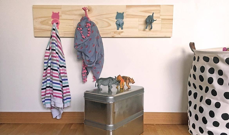 Id e d co pour chambre d 39 enfant diy portemanteau animaux diy r cup - Fabriquer patere porte manteau ...
