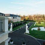 Perspective ensoleillée depuis l'hôtel à Chantilly (Oise), le 5 décembre.