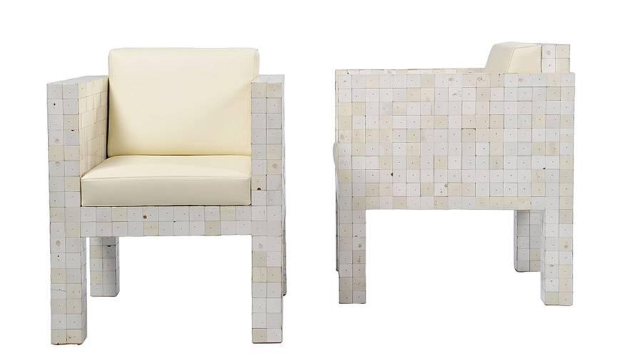 Deux fauteuils issu de la collection waste waste 40x40.