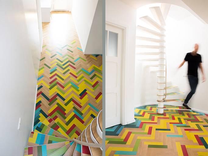 id e d co copier peindre son parquet de toutes les couleurs nowlab. Black Bedroom Furniture Sets. Home Design Ideas