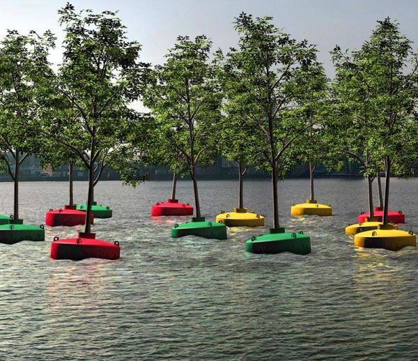 Une forêt flottante à Rotterdam
