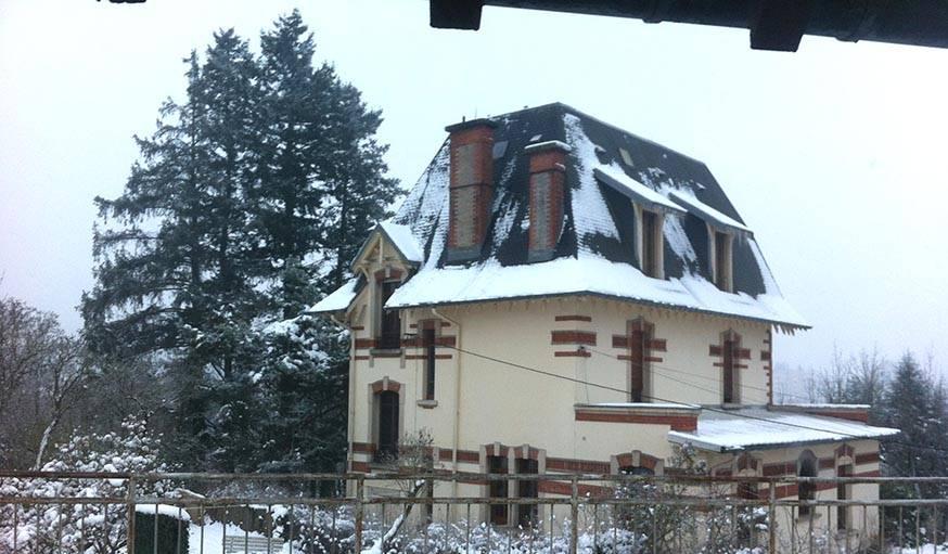 La neige arrive. Ici à Saint-Dié-des-Vosges (Vosges) le 19 janvier, à 16h30.
