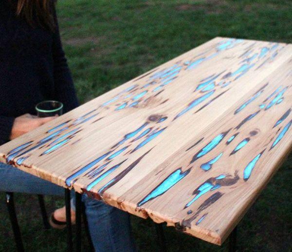 DIY : une table qui brille dans le noir !