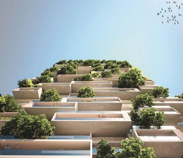 Vivre entouré d'arbres dans la future Tour des Cèdres