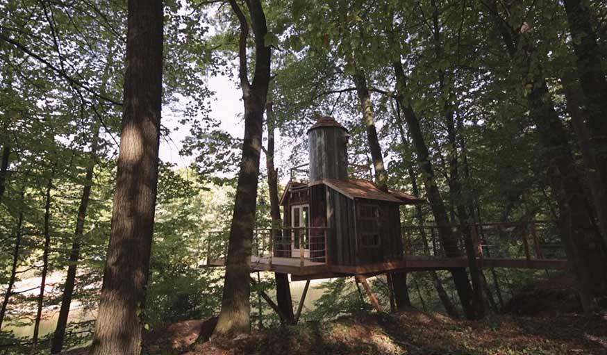 La première cabane construite par Christopher Richter.