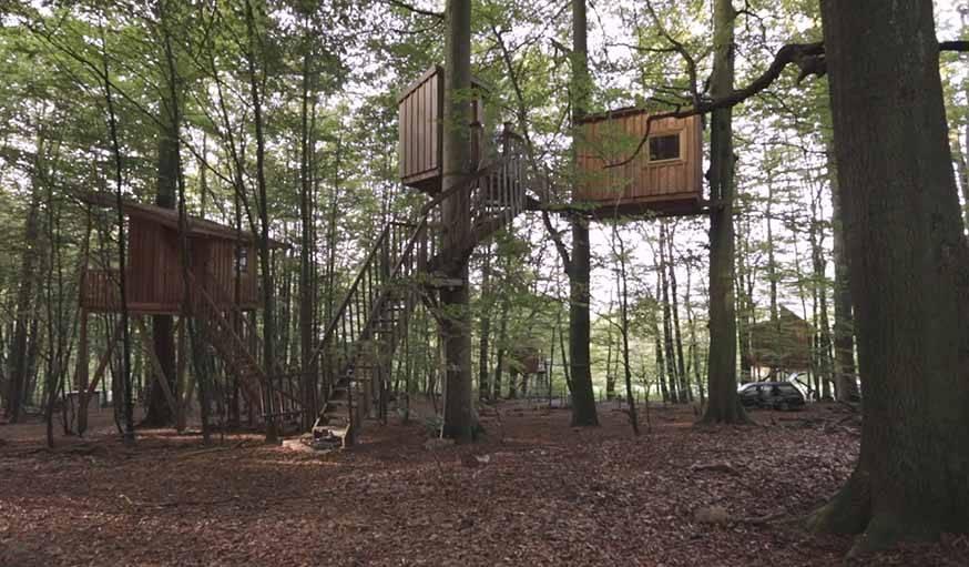 L'une des cabanes du Baumhaushostel à Uslar, en Allemagne.