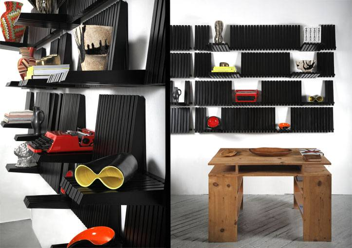 L'étagère piano s'adapte aux objets que l'on dispose sur ses touches.