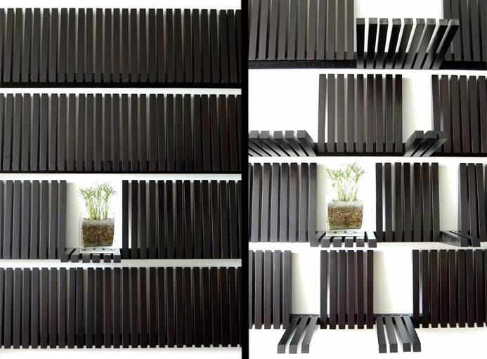 Cette étagère se prend pour un piano.
