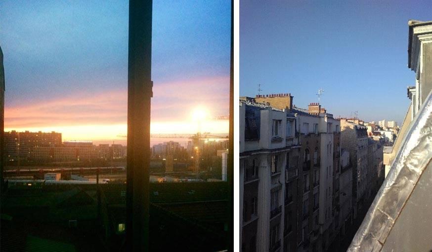 Soleil couchant, soleil levant, soleil éblouissant à Paris.