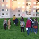 Lors d'une marche sensible organisée par Genre et Villes à Villiers-le-Bel (93), en 2015.