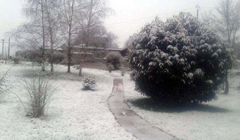 Manteau de neige à Moimay (Haute-Saône), le 25 février.