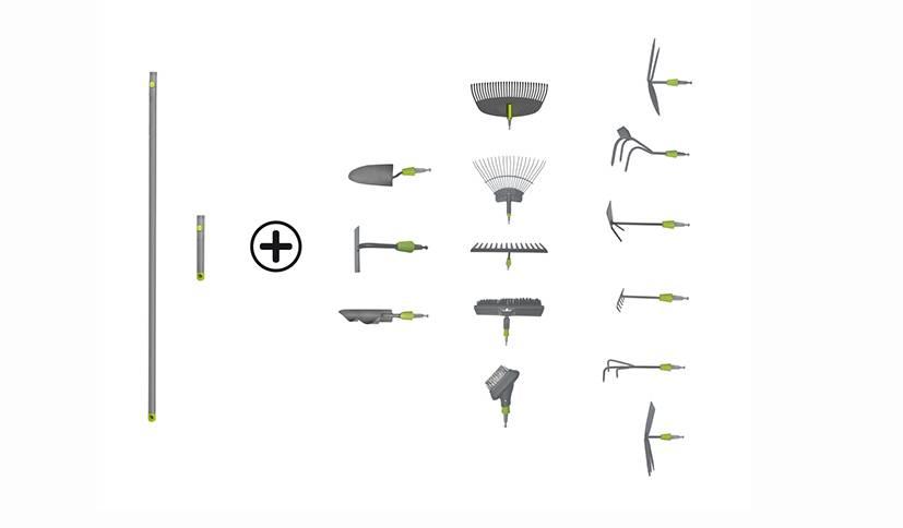 Avec ses différentes tailles de manches et ces têtes interchangeables, le concept Click VERVE permet de tout avoir sous la main