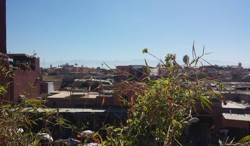 Soleil radieux, depuis la Médina de Marrakech (Maroc), le 6 février.