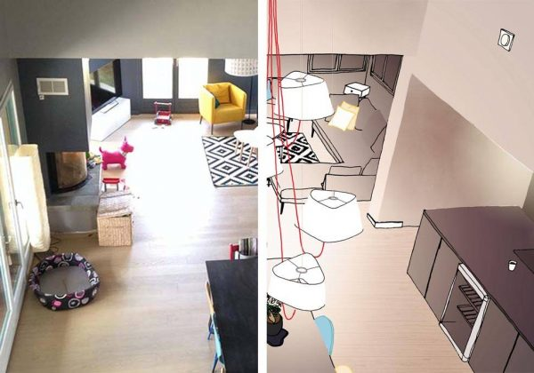 Solutions Du0027architectes Pour éclairer Un Salon Haut De Plafond