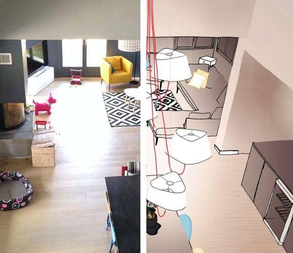 Solutions d'architectes pour éclairer un salon haut de plafond