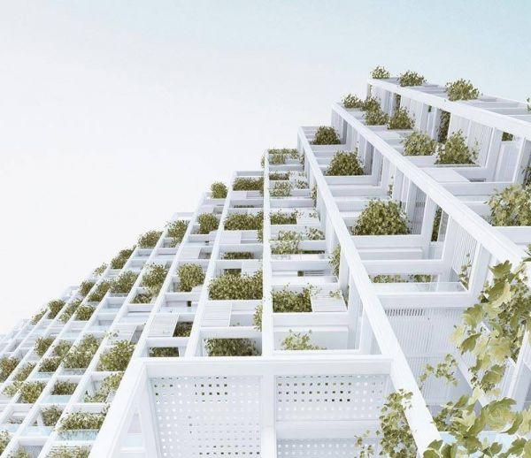 Un immeuble modulaire et végétal