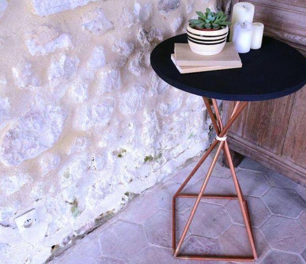 DIY Récup' : Fabriquez une table en tuyaux de cuivre