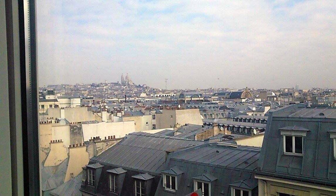 Vue sur le Sacré Coeur à Paris, mi-février.